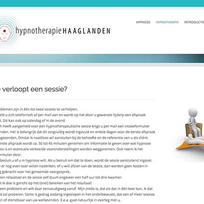 Website Hypnotherapie Haaglanden