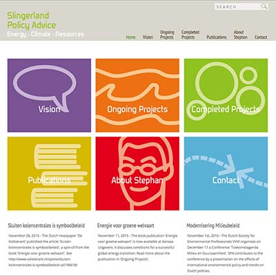 Website Slingerland Policy Advice